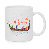 Tangled Canoe Tide Watercolor Coffee Mug, Kids Mug, Disney Quotes Mug