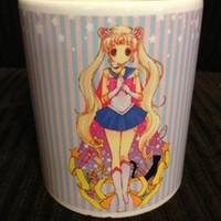 Sailor Moon Characters Mug Cup White Coffee Tea Cup Mars Jupiter Venus