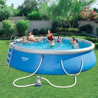 "Bestway Fast Set 18' x 48"" Swimming Pool Set - Walmart.com"