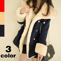 Women fashion winter jacket winter warm coats women wool slim double breasted wool coat winter jacket women fur women's coat jackets new = 1956471428