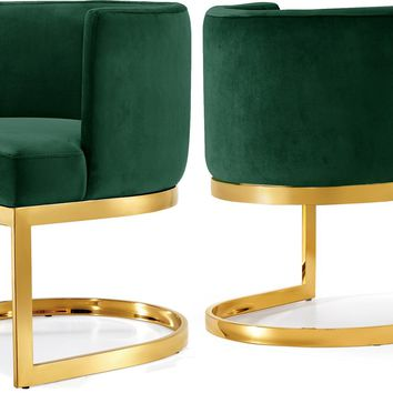 Gianna Green Velvet Dining Chair