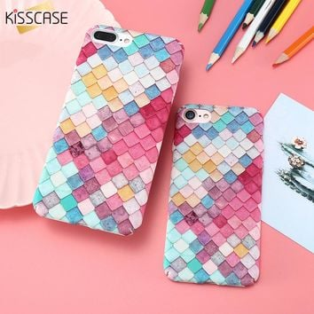 KISSCASE For iPhone 6 6s Plus Case Scales Squama Hard PC Phone Cases For iPhone 7 7 Plus Capa Mobile Phone Accessories Fundas