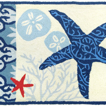 Italian Tile with Starfish Accent Rug