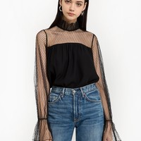 Phoebe Fishnet Blouse