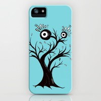 Excited Tree Monster Ink Drawing iPhone Case by borianagiormova