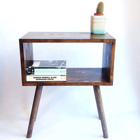 Mid Century Modern Tables, Midcentury Bedside Table, Scandinavian Table, Retro Nightstand, Coffee Table, Dark Wood Table