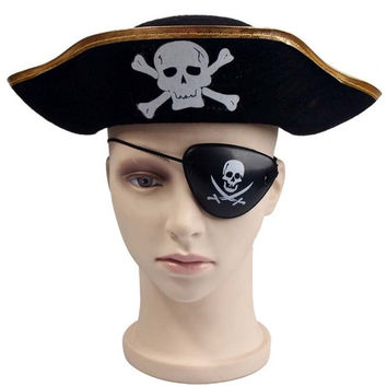 Pirate Eye Patch Skull Crossbone Halloween Party Favor Bag Costume Kids Toy SC2 = 1929646084