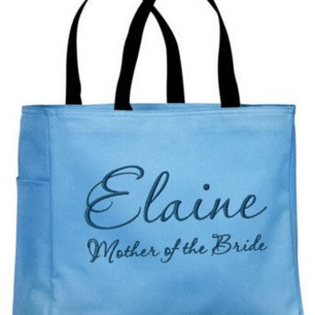 Mother of the Bride / Groom Personalized Embroidered Tote Bag  Bridesmaid Maid of Honor