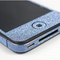 Nice Shiny Blue Rhinestone Fashion Sticker For iPhone 4S/5