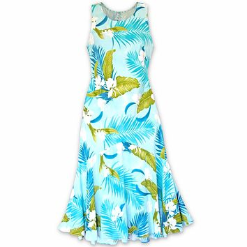 ginger breeze aqua  hawaiian lehua dress
