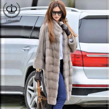 2018 New Arrival Real Mink Fur Coat Recommend Natural Full Pelt Women Real Mink Fur Outwear Jacket Women Fur Genuine MKW-119