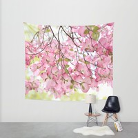 pink dogwoods Wall Tapestry by Sylvia Cook Photography