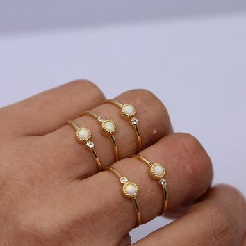 100% 925 sterling silver gold color minimal thin girl ring thin small band fashion finger jewelry Gem Lovely silver rings