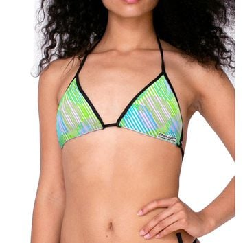 Geometric Circles Pattern AOP Swimsuit Bikini Top All Over Print by TooLoud