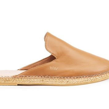 Vilafortuny Leather Slip-on Mules - Sahara Brown