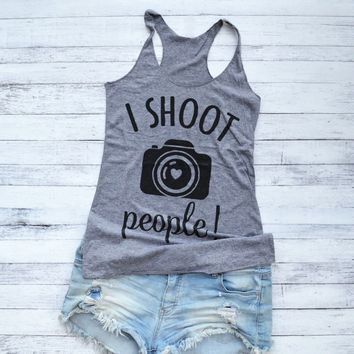 I Shoot People Photographer Tank Top