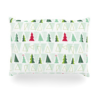 "Allison Beilke ""Pining for Christmas"" Christmas Holiday Outdoor Throw Pillow"