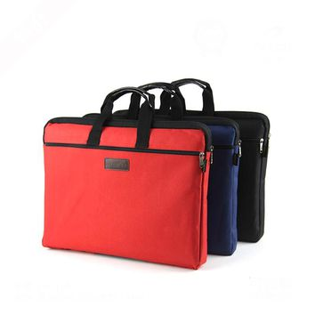 A4 zipper oxford cloth file folder school large capacity computer holder office business briefcase files meeting case handbag