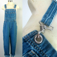 Vintage Denim Overalls London Jeans Size Medium Boyfried Jean