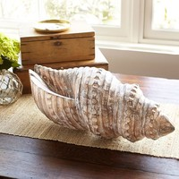 Oversized Wood Shell Object