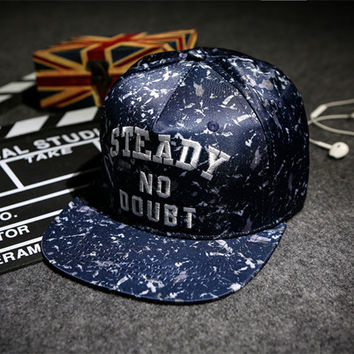 Alphabet Embroidery Hip-hop Baseball Cap Korean Couple Hats [4989697604]