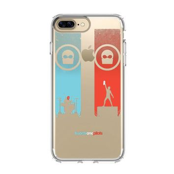 BLURRYFACE TWENTY ONE PILOTS 2 iPhone and Samsung Galaxy Clear Case