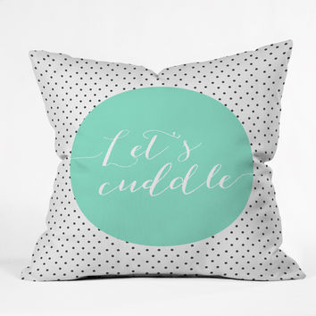 Allyson Johnson Lets Cuddle Outdoor Throw Pillow
