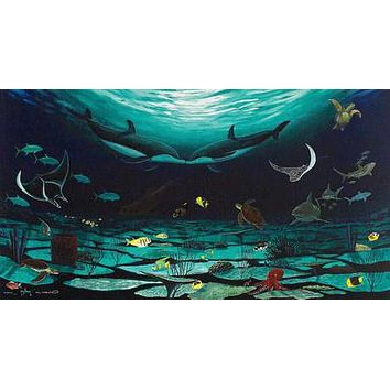 Loving Sea - Limited Edition Giclee on Canvas by Wyland