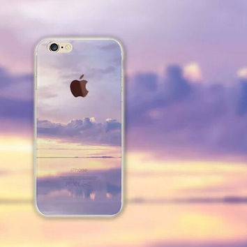 Beautiful Clouds iPhone 5S 6 6S Plus creative case + Gift Box-126