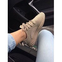 """Adidas"" Yeezy Women's Classic Trendy Sports Running Shoes F Khaki"