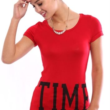 Short Sleeve Tunic Tee with Time Out Screen