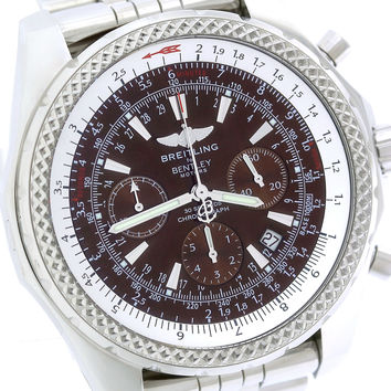 Breitling Bentley Chronograph Bronze Havana Brown Stainless A25362 48mm Watch