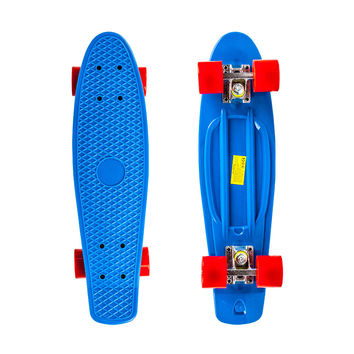 "22"" Complete Plastic Penny Style Street Classic Skateboard - Light Blue"