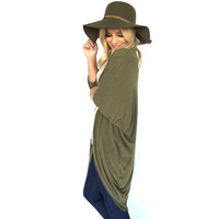 Lavish Knit Cardigan In Olive