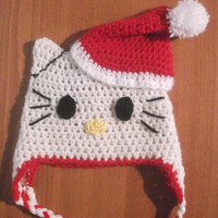 Hello Kitty Christmas Hat Crochet Pattern All by CrochetPatterns1