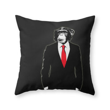 Society6 Domesticated Mon Throw Pillow