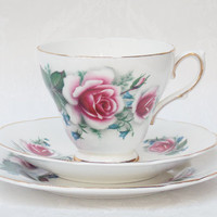Teacup Trio, Teacup Saucer and Side Plate, Tea Trio Set, Sutherland China - 1960s