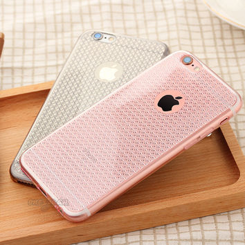 6S Ultra Thin Sparkling Bling TPU Soft Mobile Phone Case For iPhone 6 6s 6plus 6Splus 5 5S SE Shinning protective back Cover