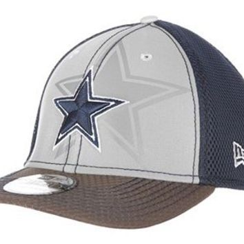 Men's Dallas Cowboys New Era Gray/Navy Flashed Front Neo 39THIRTY Flex Hat