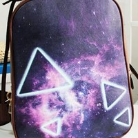 Punk Style Triangle Print Backpack