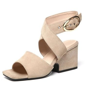 Cross-tied Sandal High Heels Women Shoes
