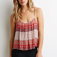 Pleated Ornate Print Cami
