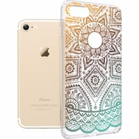 Case for iPhone 7 , ESR Totem Henna Pattern Protective cover One Piece Hybrid Case Soft TPU Hard Back case for 4.7 inch iPhone7