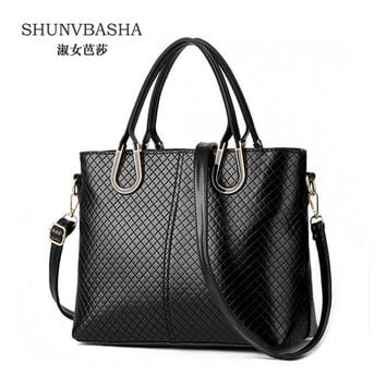Direct selling handbags 2016 High quality women big smooth shoulder bag Charm Luxury female tote Inclined shoulder bag for women