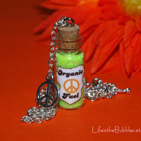 Disney Pixar Cars Fillmores Organic Fuel Necklace Peace Sign Charm by Life is the Bubbles