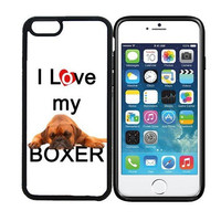 iPhone 6 (4.7 inch display) Designer Black Case - I Love My Boxer Dog