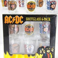 ROCKWORLDEAST - AC/DC, Shot Glass Set, Dirty Deeds