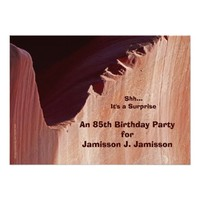 Surprise 85th Birthday Party Invitation Canyon