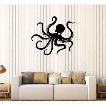 Vinyl Wall Decal Octopus Tentacles Marine Animal Sea Decor Stickers Unique Gift (249ig)