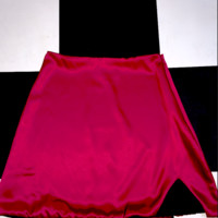 SWEET LORD O'MIGHTY! SILK KITTEN SKIRT IN MAROON